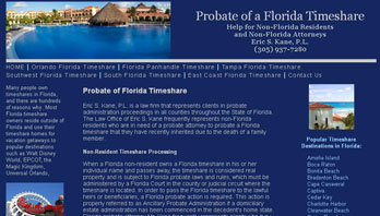 Timeshare Probate